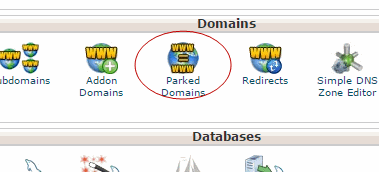park-domain-in-cpanel