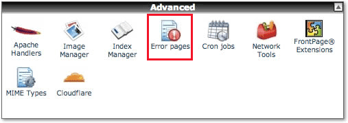 cpanel-error-pages