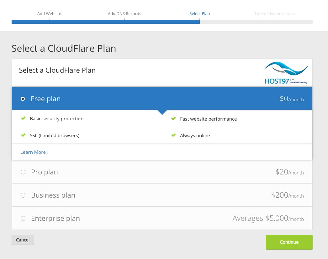 select-cloudflare-plan
